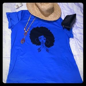 blue t-shirt with a special soft and comfortable d